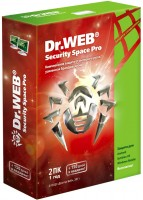 Антивирусы Dr.Web Security Space Pro 1 год на 2 ПК